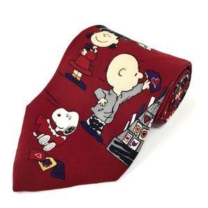 100% Silk Peanuts Be My Valentine Necktie